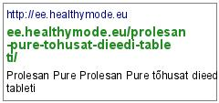 http://ee.healthymode.eu/prolesan-pure-tohusat-dieedi-tableti/
